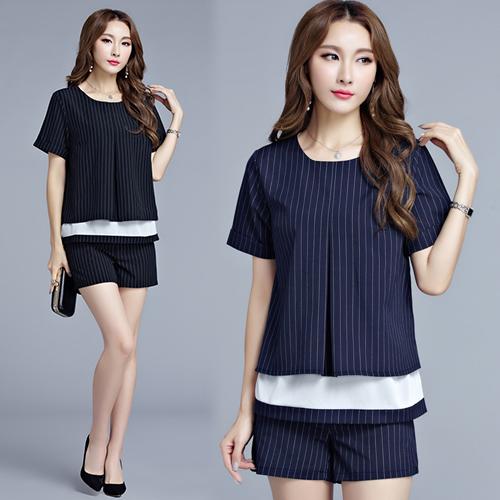 【韓國KW】(現貨) 絕美線條旋律短褲套裝