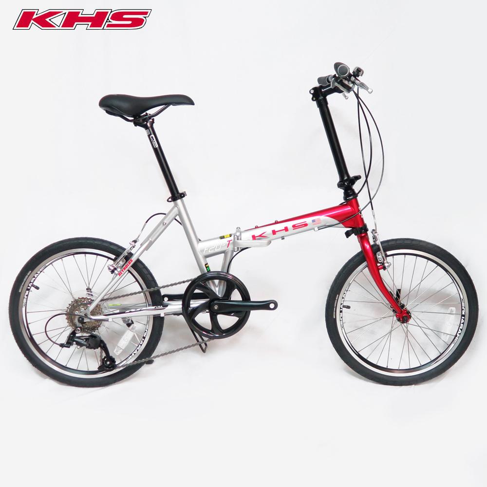 KHS功學社 2019 F20-T日規20吋8速鉻鉬鋼折疊單車-亮紅/ 銀