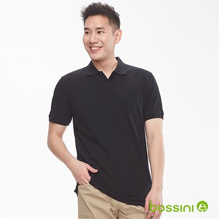 bossini男裝 純棉素色POLO衫