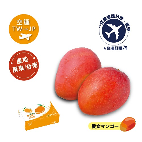 [預購]2021 空運《TW台灣→JP日本》愛文芒果(愛文マンゴー)5kg(約8~14顆)