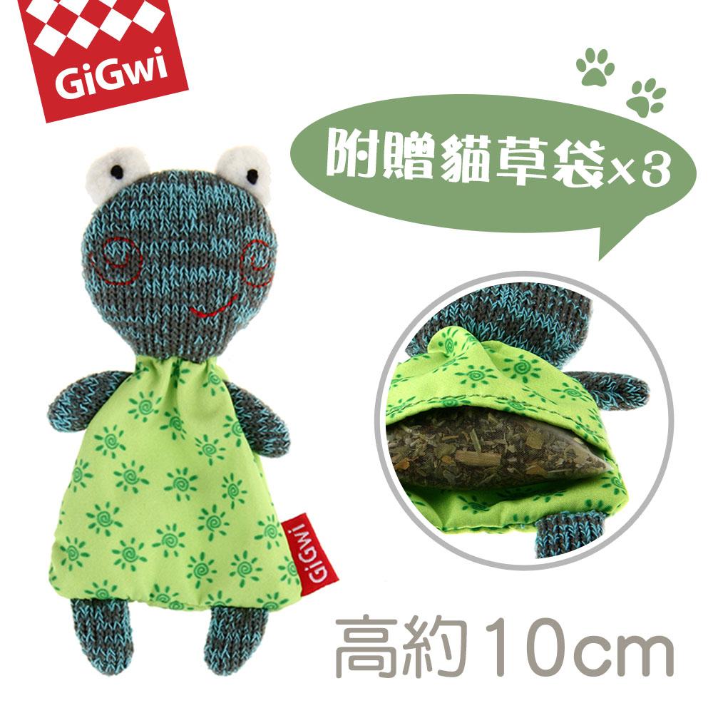 GiGwi就是愛貓草-微笑蛙絨毛玩具