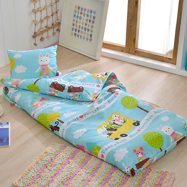 義大利Fancy Belle X Malis《一起郊遊趣》單人防蹣抗菌兒童睡袋