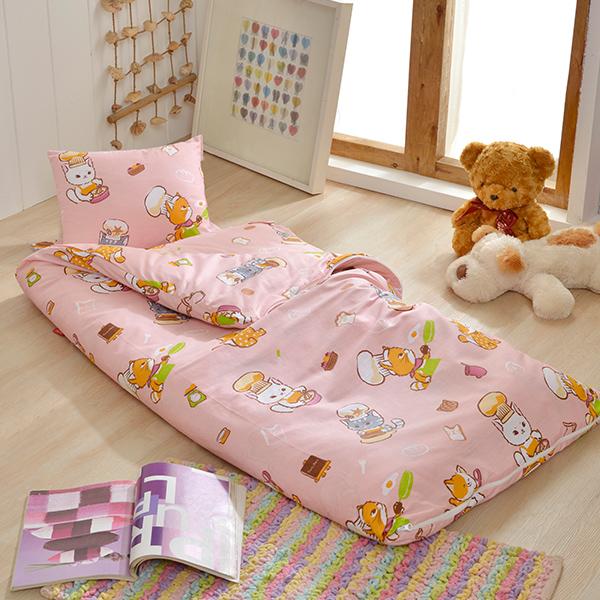 義大利Fancy Belle X DreamfulCat《一起做麵包》單人防蹣抗菌兒童睡袋