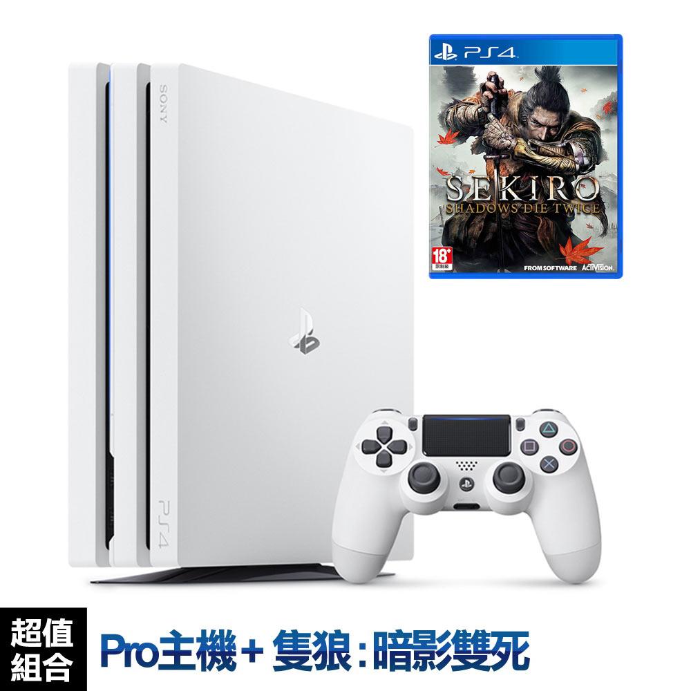 SONY PS4 Pro主機CUH-7218系列1TB-冰河白+隻狼:暗影雙死 – 中文版