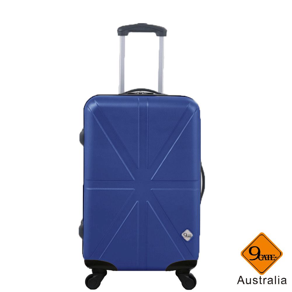 行李箱 旅行箱 登機箱 28吋 限定雙層拉鍊加大空間 米字英倫系列【Gate9】