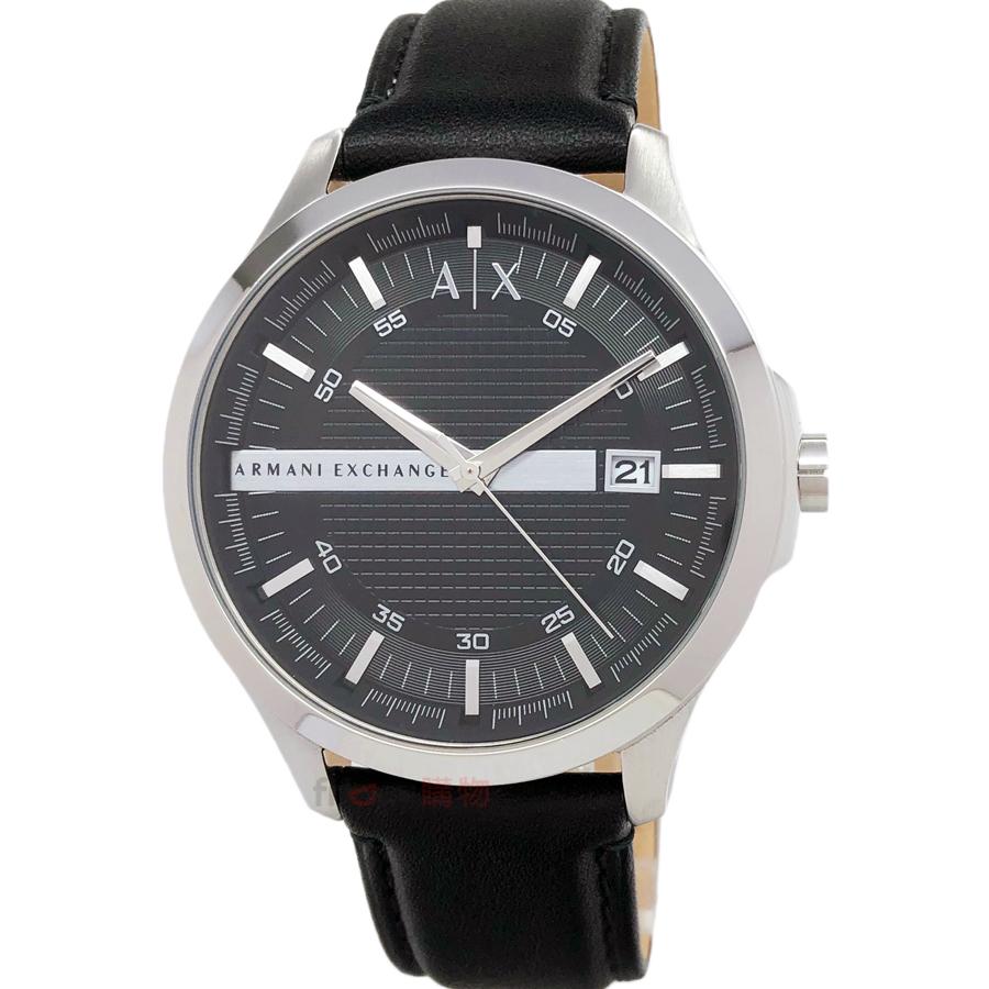 AX ARMANI EXCHANGE AX2101 都會紳士 男錶 立體格紋黑皮帶 手錶