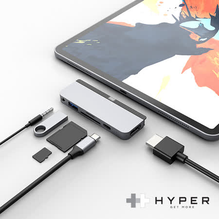 iPad Pro 專用 Type-C 6-in-1 USB-C Hub
