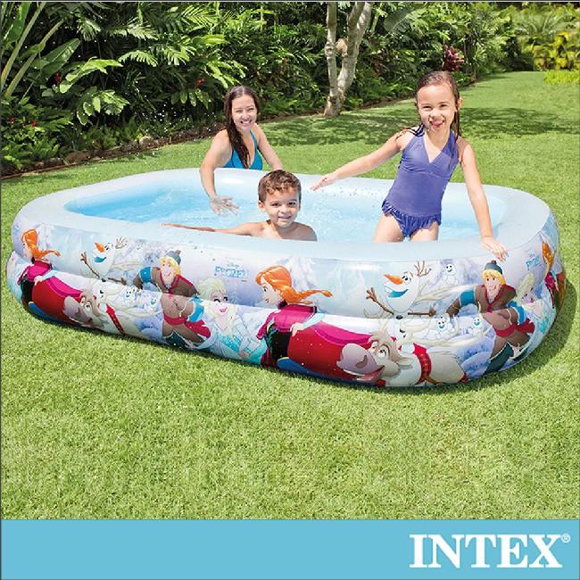 【INTEX】冰雪奇緣ELSA-長型游泳池262x175x56cm(770L) 6歲+(58469)