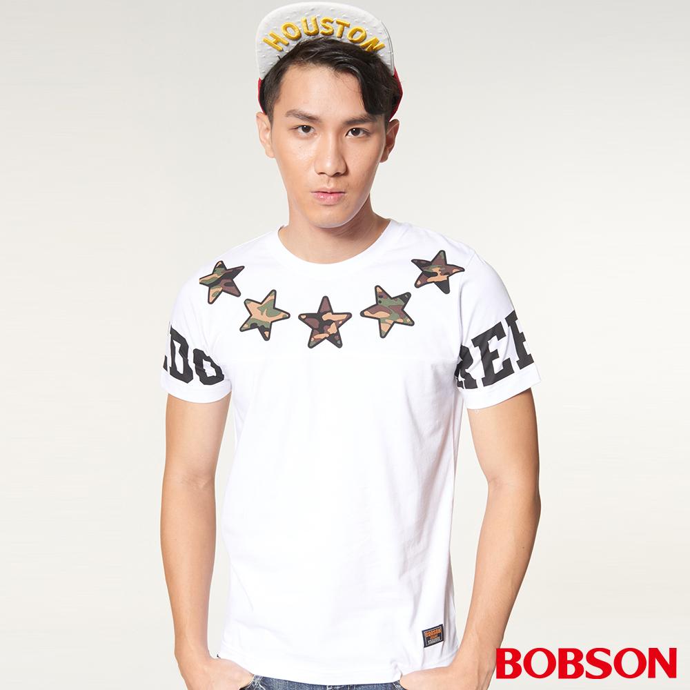 BOBSON男款印圖上衣(27014-80)
