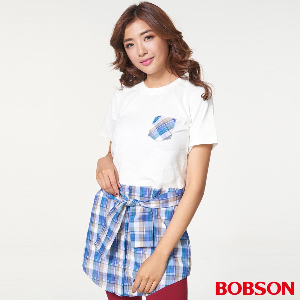 BOBSON女款仿兩件式上衣(27087-81)
