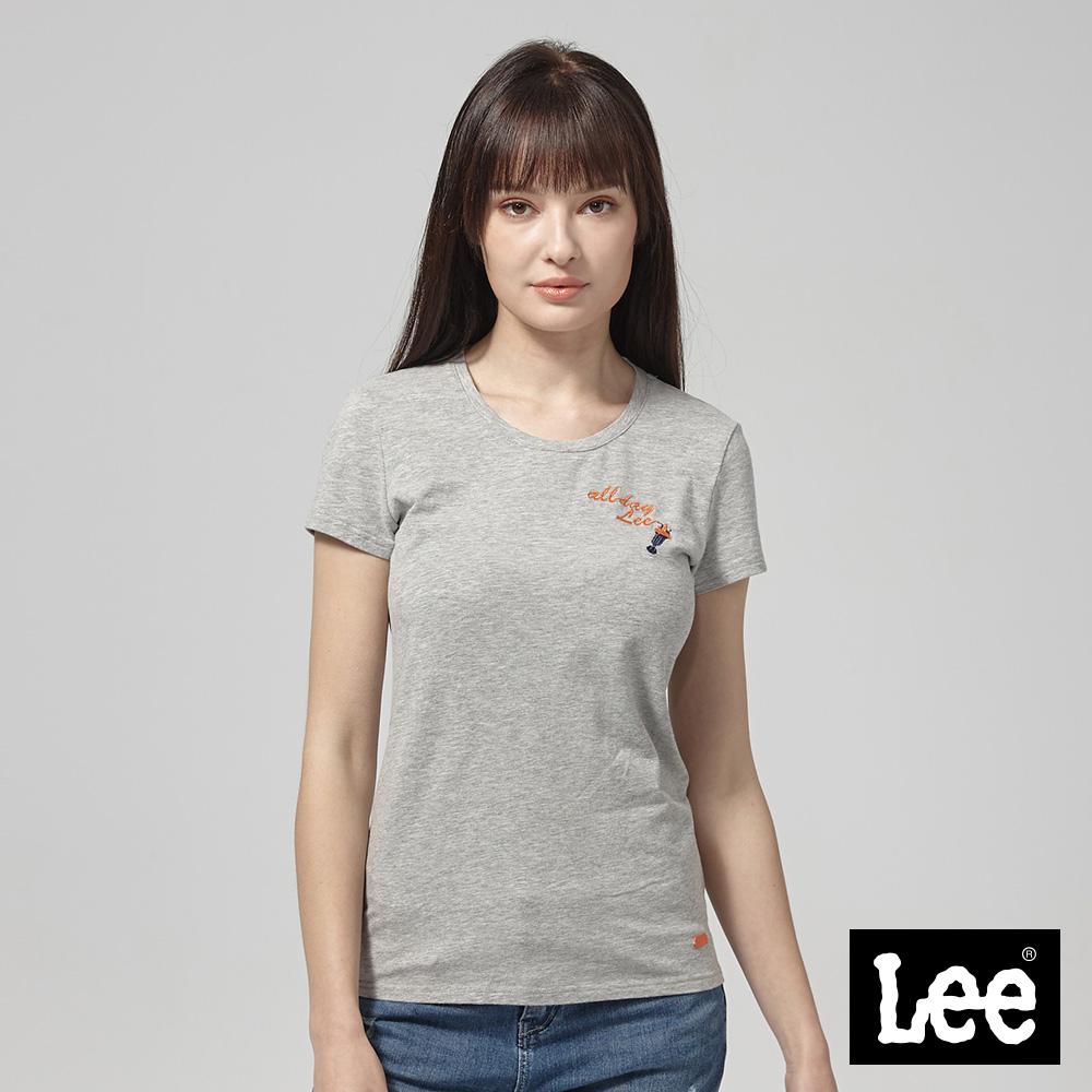 Lee ALLDAY LEE 霜淇淋短袖圓領T恤/RG-標準版型-灰
