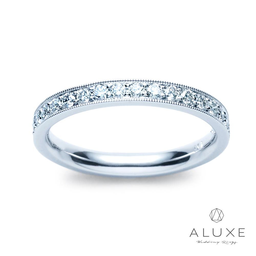A-LUXE 亞立詩 18K金整圈滿鑽百搭鑽石線戒