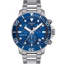 TISSOT 天梭<BR>海洋之星300米潛水三眼計時石英錶