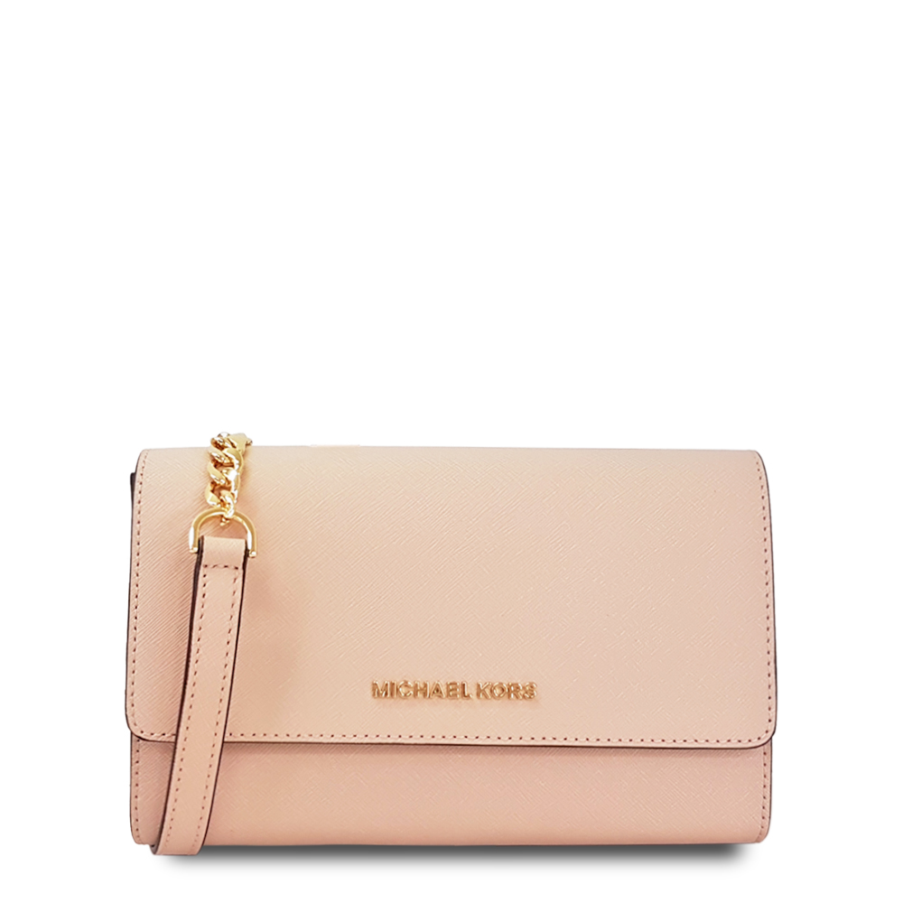 MICHAEL KORS 新款JET SET 系列3WAY 輕便子母夾斜背包鍊包-粉色