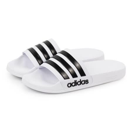 ADIDAS 經典黑白拖鞋