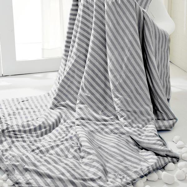 義大利La Belle《斯卡線曲》色坊針織超涼感涼被(150*200CM)-灰