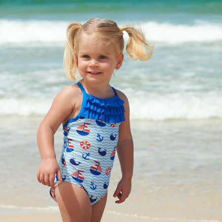 澳洲 RASHOODZ 兒童抗UV防曬連身泳裝