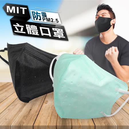 台灣製造 防霾PM2.5立體口罩30入