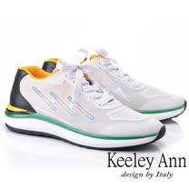 Keeley Ann 輕運動潮流 撞色疊層個性休閒鞋