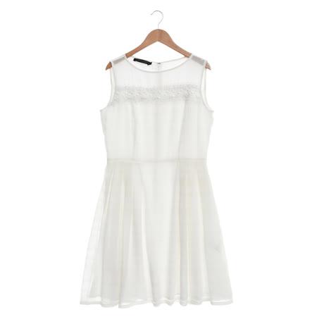 EPISODE氣質雪紡蕾絲拼接洋裝