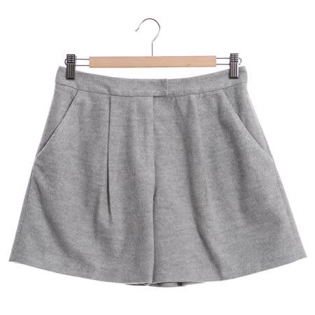 JESSICA-素色百搭打摺短褲