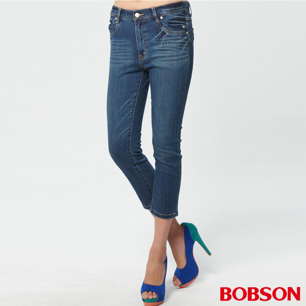 BOBSON 女款高腰七分牛仔褲 (220-53)
