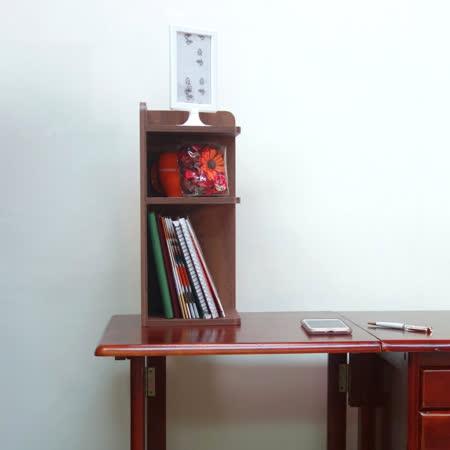 空間生活 仿古時尚桌上轉角收納櫃