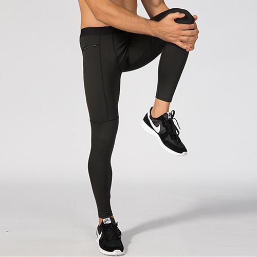 【KISSDIAMOND】新創高彈力速乾拉鍊口袋運動壓縮褲-1070(瑜珈/運動/跑步/健身/瘦身/男款3色S-XL)