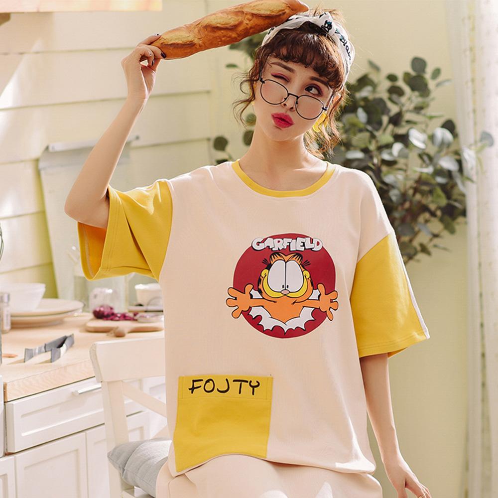 Wonderland 擁抱加菲貓100%棉睡衣洋裝