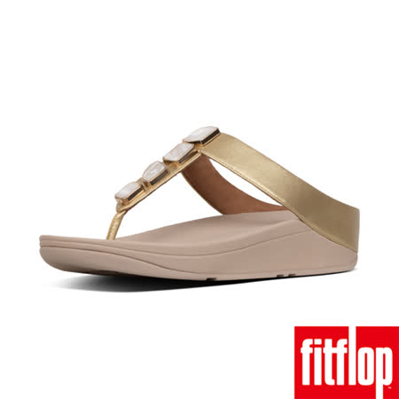 【FitFlop】FINO SHELLSTONE TOE-THONGS 黃金色