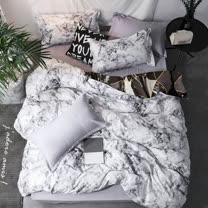 ARTI雪紡棉雙人床包薄被套組