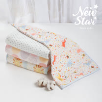 Newstar 100%親膚純棉紗布被(雙層紗)l新生兒包巾l嬰兒蓋毯l嬰兒被l嬰兒推車遮陽罩-四季適用~媽媽們人氣推薦!MIT台灣製造安心好品質