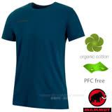 【瑞士 MAMMUT 長毛象】Logo T-Shirt 男新款 短袖圓領休閒棉T.上衣 1017-07292-50173 波賽頓藍