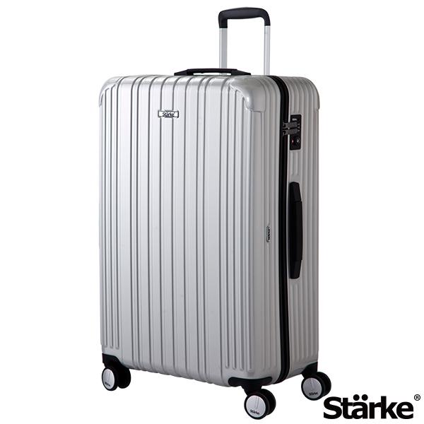 德國設計Starke 29吋PC+ABS拉鍊行李箱 旅人系列-銀色