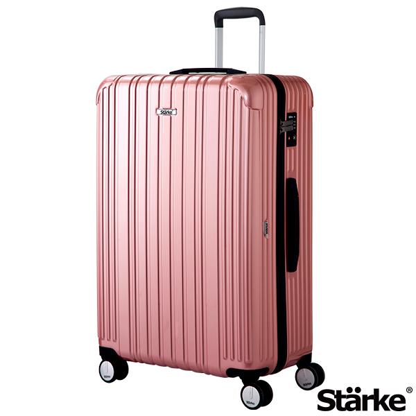 德國設計Starke 29吋PC+ABS拉鍊行李箱 旅人系列-玫瑰金