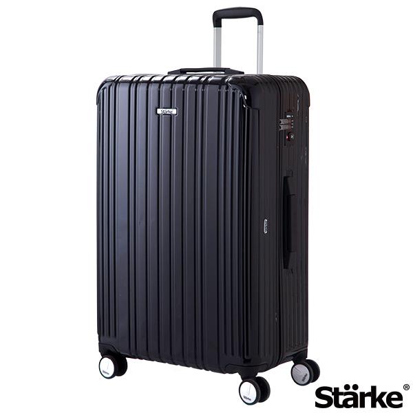 德國設計Starke 29吋PC+ABS拉鍊行李箱 旅人系列-黑色