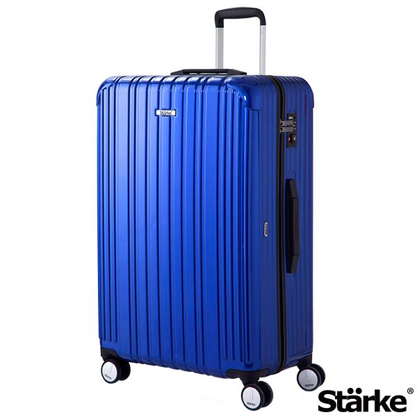 德國設計Starke 29吋PC+ABS拉鍊行李箱 旅人系列-藍色