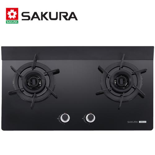 【促銷】SAKURA櫻花 二口雙炫火玻璃檯面式瓦斯爐 G2922AG/G-2922AG/G2922AGB 送安裝