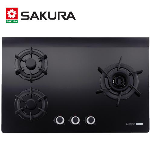 【促銷】SAKURA櫻花 三口雙炫火玻璃檯面式瓦斯爐 G2932AG/G-2932AG/G2932AGB 送安裝