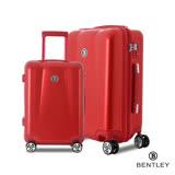 【賓利BENTLEY 】PC+ABS蜂巢纹拉鍊款輕量行李箱28+20吋-紅