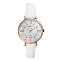 FOSSIL  貝殼面質感日期時尚腕錶-白色