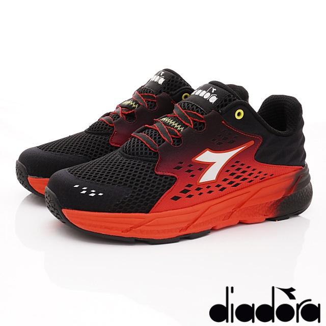 DIADORA義大利國寶鞋-配色運動款-MR6602黑紅-男段-(25.5cm-29cm)