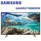SAMSUNG三星 43吋 4K 智慧連網液晶電視(UA43RU7100WXZW) * 送OVO藍芽耳機+尚朋堂14吋立扇