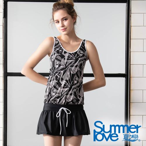 【夏之戀SUMMERLOVE】大女連身裙二件式泳衣-加大碼S19710