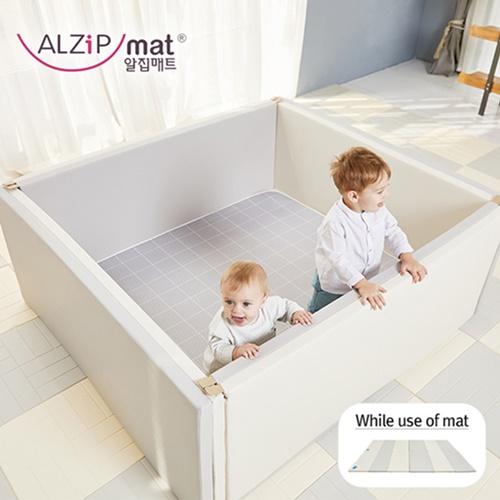 【BabyTiger虎兒寶】ALZiPmat 韓國手工製 CANDY HOUSE PLUS+糖果屋升級版-摩蘭迪灰x奶油裸
