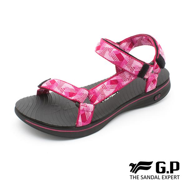 【G.P 女款極輕量織帶旅行涼鞋】G9278W 黑桃色(SIZE:36-39 共三色)