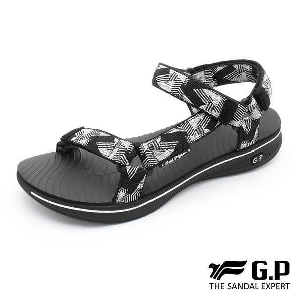 【G.P 女款極輕量織帶旅行涼鞋】G9278W 白黑色(SIZE:36-39 共三色)