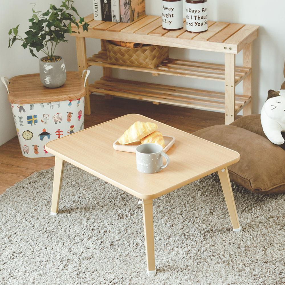 Peachy life 日系品味簡約折疊茶几桌/和室桌/折疊桌/野餐桌-1入