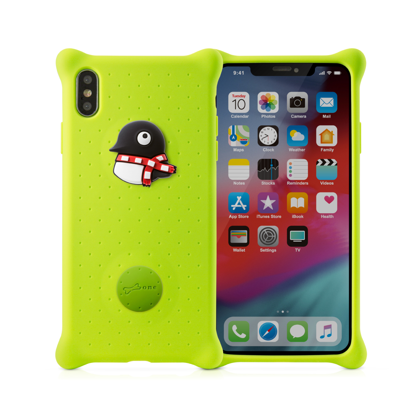 【BONE】IPhone XS MAX 泡泡保護套-企鵝小丸