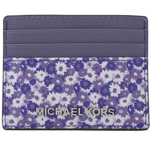 MICHAEL KORS Jet Set Travel 碎花信用卡名片夾.紫
